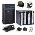 2 * 7000 mAh baterias NP-F970 NP-F960 / F960 + 1 * carregador para Sony NP-F550 NP-F750 NP-F770 F960 F970 frete grátis