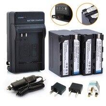 2 * 7000 mAh np – F960 np – F970 batteries / F960 batterie + 1 * chargeur pour Sony np – f550 np – f770 np – f750 F960 F970 livraison gratuite