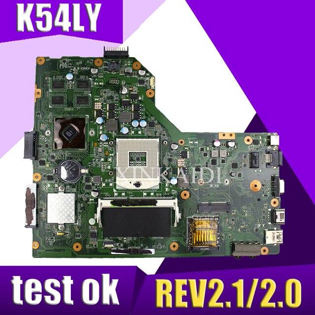 XinKaidi K54LY Laptop motherboard for ASUS K54L X54H K54HR X84H Test  original mai'nboard REV2 1/2 0 PM
