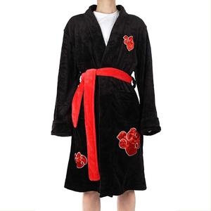 Cosplay Naruto Uzumaki Naruto Uchiha Itachi Cosplay Robe Cloak Adult Men's Long Bathrobe Pajamas Swimwear Costume(China)