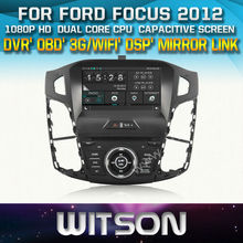 WITSON CAR DVD GPS for FORD FOCUS 2012 with New Technology Capctive Screen+1080P+DSP+WiFi+3G+OBD+DVR+Good Price+Free shipping