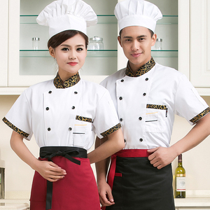 Image 2 - high quality 2020 Summer Short sleeved Chef service jackte Hotel working wear Restaurant work clothes Tooling uniform cook Tops