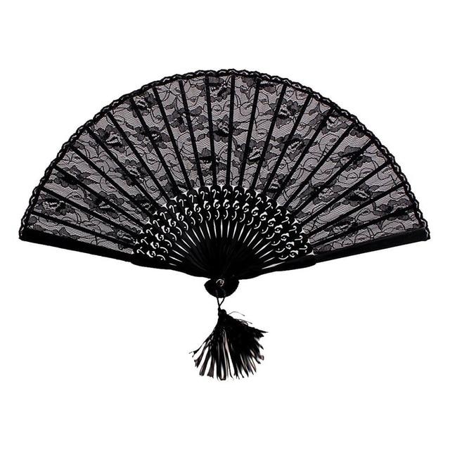 Practical Boutique Handmade Retro Style Folding Flower Lace Fan Home