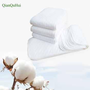 10 szt Baby pieluszki wielokrotnego użytku niemowlę noworodka tkaniny pieluchy Nappy wkładki Włóż 3 warstwy bawełna gorąca sprzedaż tanie i dobre opinie Nappies Innych 7-9 months 0-3 months 10-12 months 4-6 months 5-12 kg 10 sztuk lot qianquhui Unisex Diaper Paper Soft Cotton