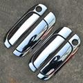 High Quality ABS Chrome Car Door Handle Cover Trim Sticker For KIA RIO Silver Color 8PCS  Car Accessories