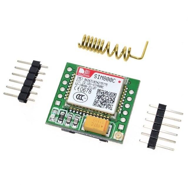 Smallest SIM800C GPRS GSM Module MicroSIM Card Core Board Quad-band TTL Serial Port (Compatible SIM800L SIM900A)