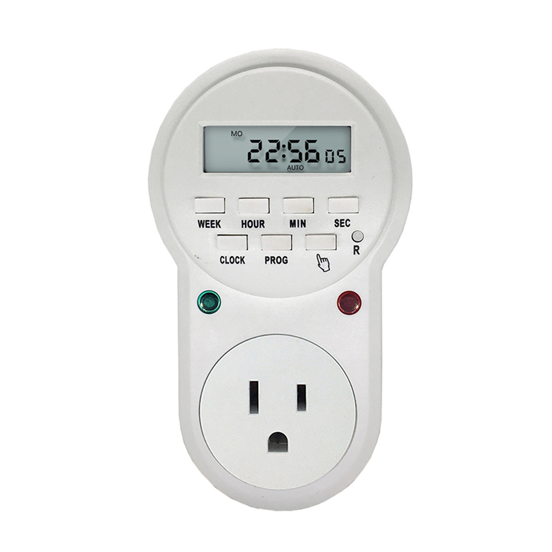 220v-230V Timer in Switch Socket Digital LCD Power Timer Energy-saving Programmable Time Switch EU /US /UK Plug temporizador