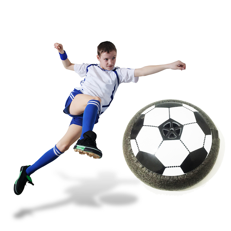 Funny LED Light Flashing Soccer Ball Air Power Disc Indoor Football Toy Amazing Multi-surface Hovering Gliding Ball Children Toy