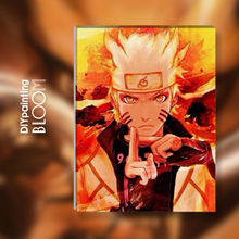 Anime Naruto Oil Painting By Numbers Japanese Animation Paints Canvas Wall Poster Home Wall Print Modern Art Decor Poster(China)