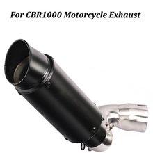 Motorcycle Exhaust Muffler Modified With Middle Connection Stainless steel Link Pipe Slip on For CBR1000 Moto Escape