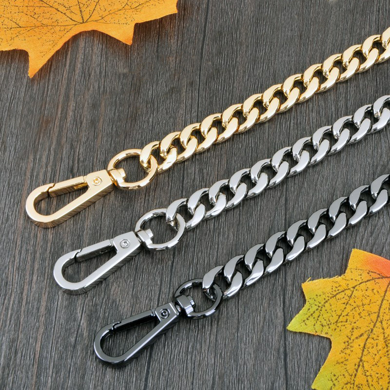 DIY 40cm-160cm Gold, Silver, Gun Black, Bronze 9mm Metal Replacement Chain Shoulder Bags Straps For Handbags, Purse Handle