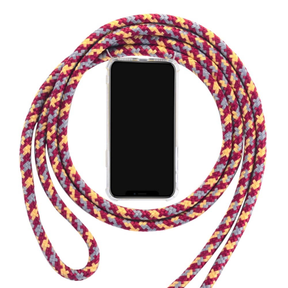 Crossbody Strap Cover For iPhone X Xr XS Max 7 8 Plus 6S 5S SE Case Girly Necklace Coque Lanyard Shoulder Neck Strap Clear Cases (21)