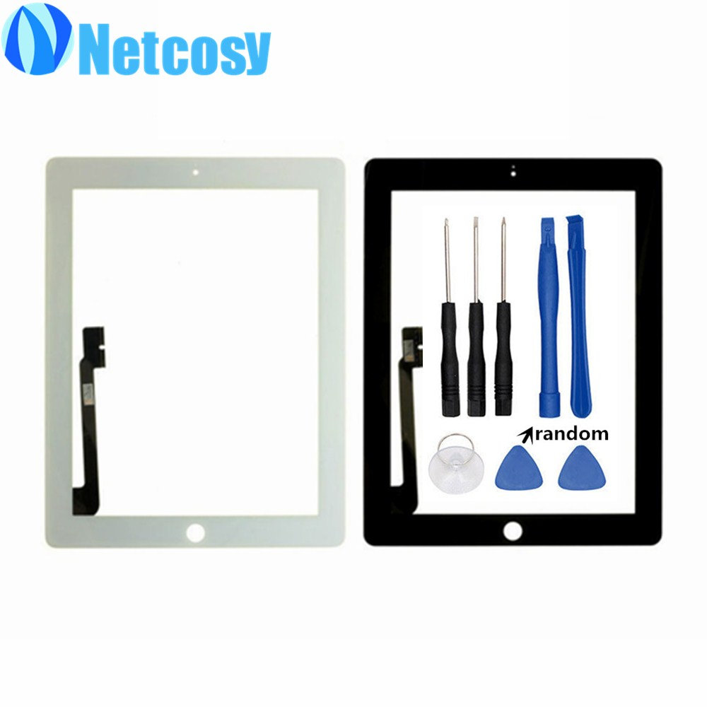Black /White For ipad 3 & 4 Touch screen digitizer panel replacement parts for ipad 3/4 Touchscreen +Tools new replacement repair parts for ipad air 5th for ipad 5 touch screen digitizer