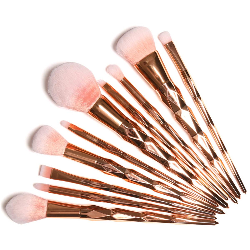 Focallure 10Pcs Powder Eyebrow Eyeliner Lip Eyeshadow Foundation Brush Cosmetic Tools Makeup Brushes Kit new 32 pcs makeup brush set powder foundation eyeshadow eyeliner lip cosmetic brushes kit beauty tools fm88