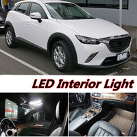 6pcs X Free Shipping Error Free LED Interior Light Kit Package For Mazda CX 3 Accessories