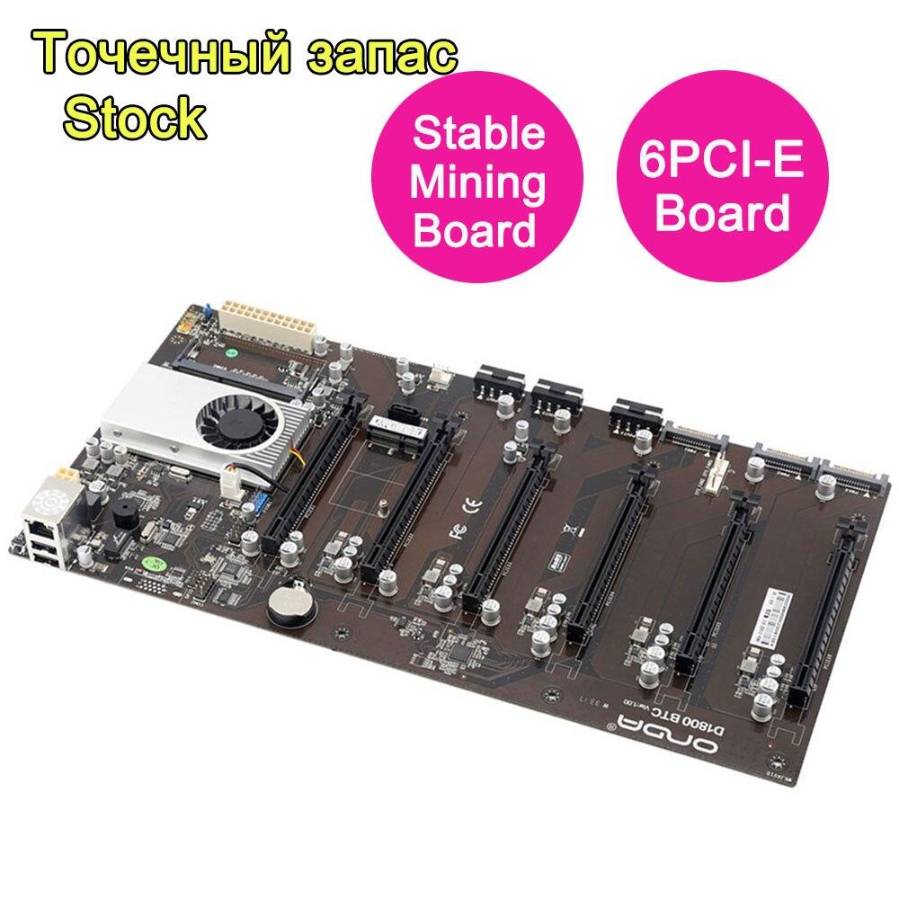 100% новый для Onda D1800 БТЦ горная машина Материнская плата поддерживает 6 карт все твердотельный конденсатор приходит с процессора