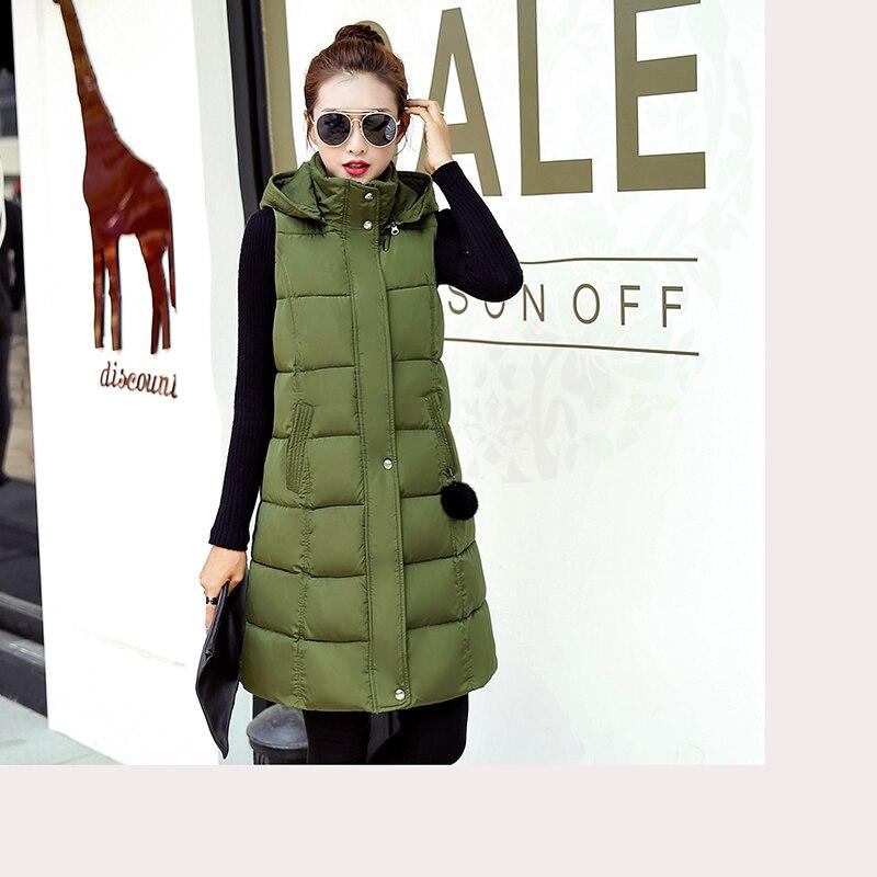 Veste Taille Le Vers La Femmes Bas Capuchon L Sans D'hiver Plus Chaud Marque Long Gilet Manches 6xl Coton À Negash Femelle fwq17wzR