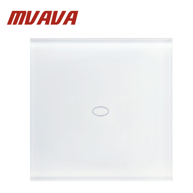 MVAVA 2016 NEW Smart home Touch Switch White Crystal Glass Panel AC110~250V LED indicator UK Light Touch Screen Switch 2017 smart home wall touch switch white crystal glass panel ac110 250v led 1gang 1way us light led touch screen switch