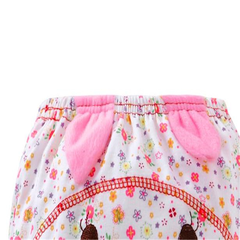 LONSANT Cotton Diaper Coth Hot Sale Baby Infant kids Animal Cartoon Ruffle Panties Briefs Diaper Cover Pants