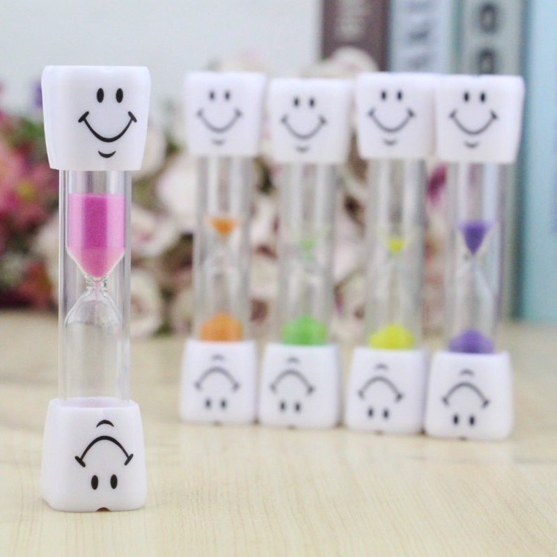 2019 Sand Clock 3 Minutes Smiling Face The Hourglass Decorative Household Items Kids Toothbrush Timer Sand Clock Gifts image