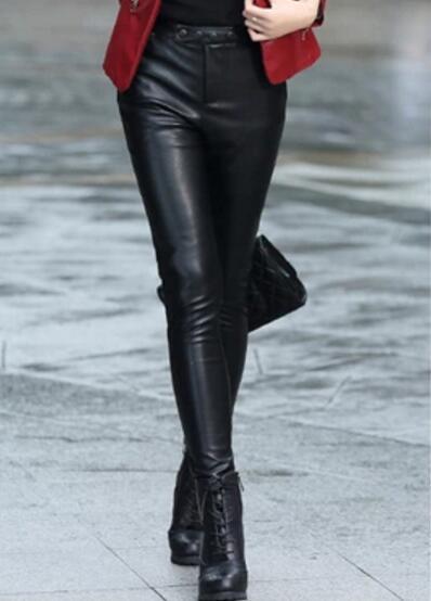 hiver Svelvet Taille Mode Plus Slim Haute Vêtements Pantalon Crayon Femmes Black Pieds Cuir 3xl 2018 Nouveau Épaissir S Velours En De Automne qUg71In8w