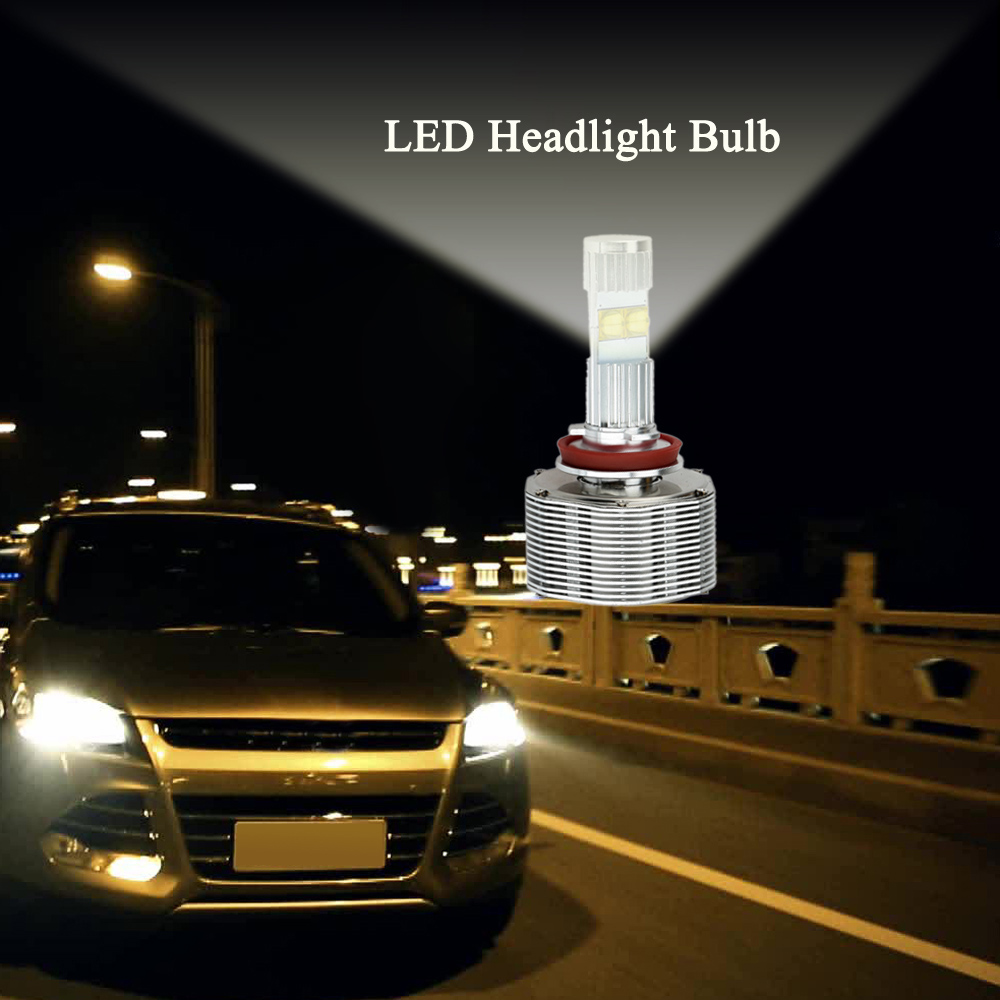 Professional 2Pcs 6000LM 60W Car H11 LED Headlight Bulb Auto Lamp Replacement White Car H11 Head Light Lamp Bulb