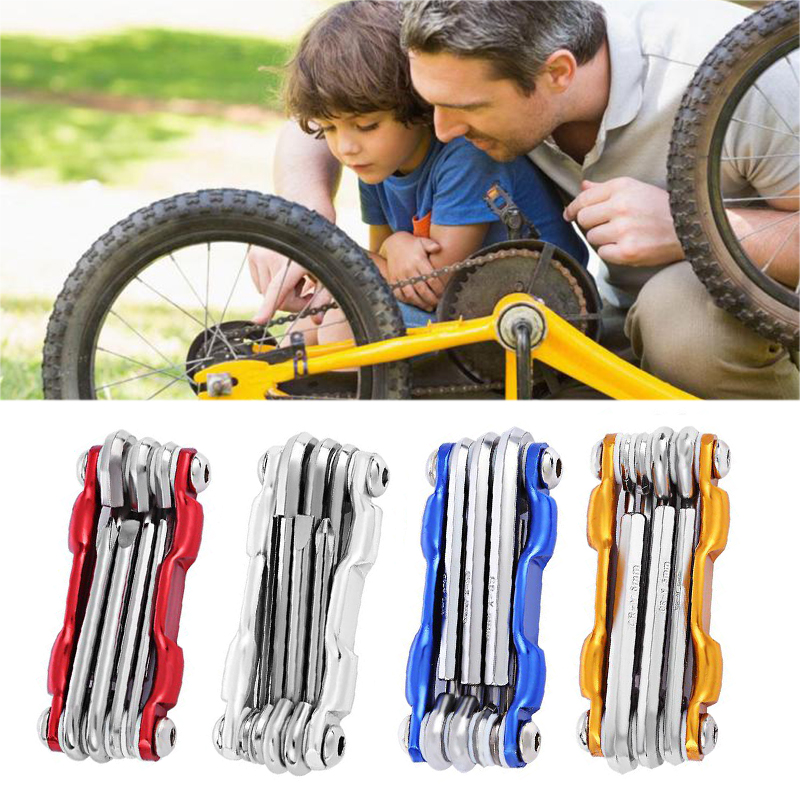 Screwdrivers Wrench Bike Spoke Multi-Repair-Tools-Sets Mountain-Bicycle Cycling Allen title=