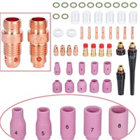 49PCS TIG Gas Lens Collet Body Consumables Kit Fit WP 17 18 26 TIG Welding Torch