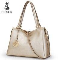 FOXER Brand New Fashion Women Leather Shoulder Bag Ladies Handbag Female Luxury Bags Women S Leather
