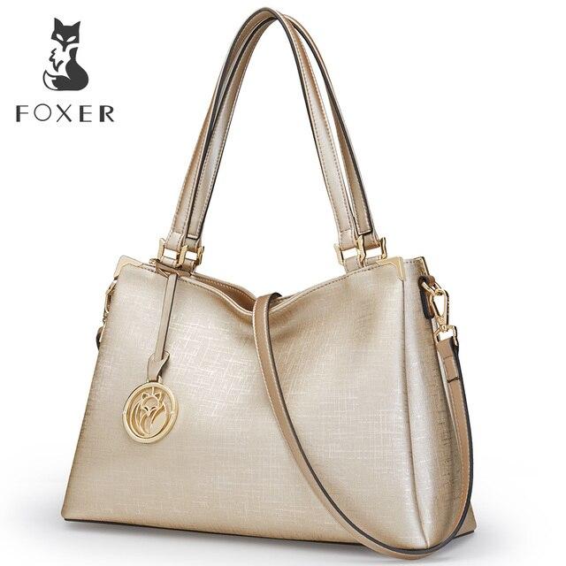 FOXER Фирменная Новинка модные женские туфли кожа сумка женская сумка женский роскошный Сумки Для женщин кожа Сумки сумка для Для женщин