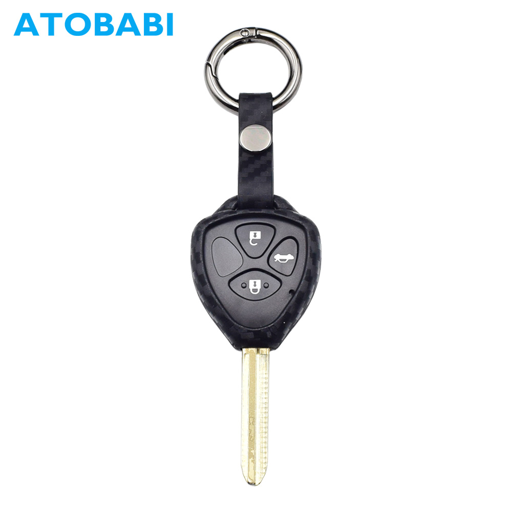 Interior Accessories Atobabi Car Key Case Carbon Fiber Pattern 2/3/4 Buttons Remote Fob Cover For Toyota Camry Avalon Corolla Matrix Rav4 Venza Yaris Available In Various Designs And Specifications For Your Selection