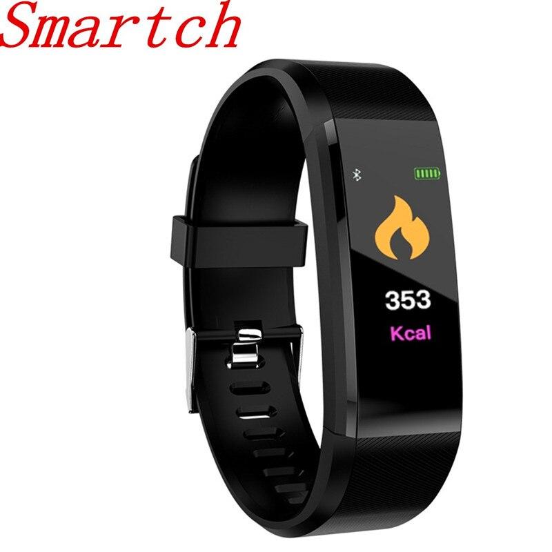 Smartch ID115 Mais Inteligente Pulseira GPS Rastreador De Fitness Relógios Banda de Freqüência Cardíaca Contador de Passos Multi-sport H115 Pulseira Para IOS Um
