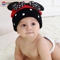 Meninas do bebê Bonés de Marca Padrão de Desenho Animado Arco Dot Bebê Beanie Chapéus Caps Para A Menina Crochet Nova Moda Chapéus das Crianças 2016 Venda Quente