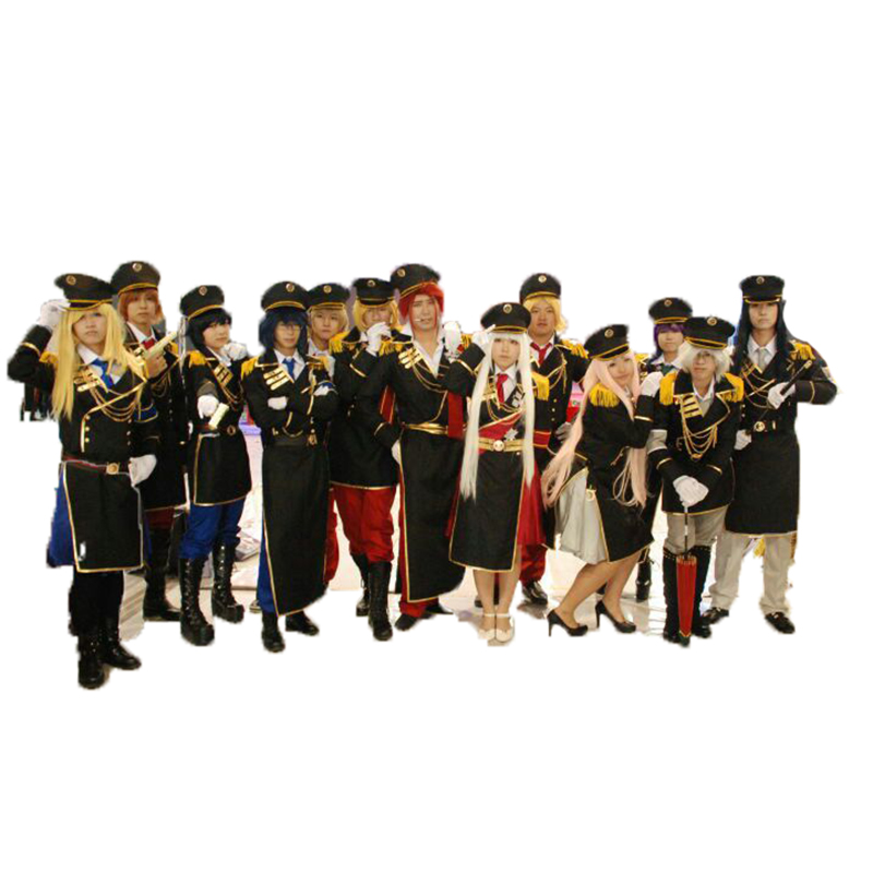 K retour des rois Neko/Anna/Yata Misaki/Saruhiko uniforme militaire ensemble complet avec chapeau Cosplay Costumes 13 styles peuvent choisir