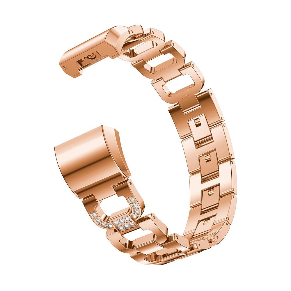 banda cinta strass pulseira de aço inoxidável