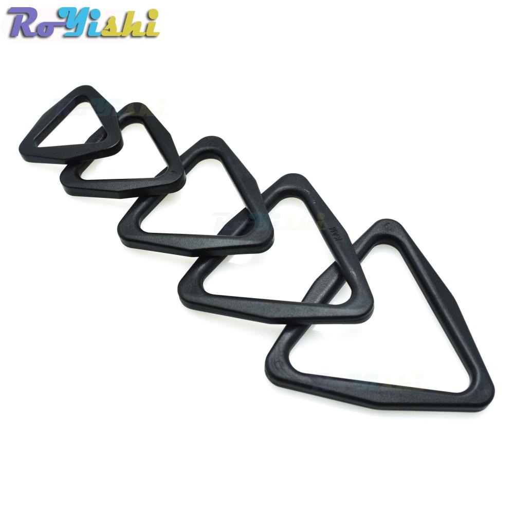 20mm 25mm 30mm 38mm 45mm Webbing Plastic Triangle Buckle Slider Adjust Buckle For Backpack Straps Triangle Belt Buckle