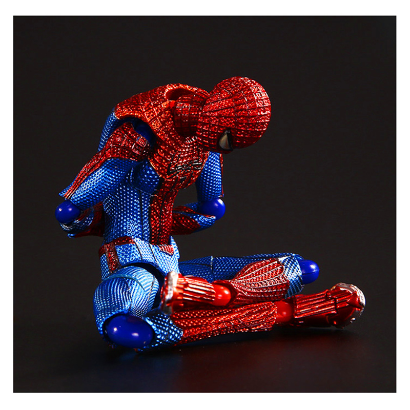 15CM The Amazing SpiderMan Action Figure Toys Model Doll Assemble Joint Movable Spider Man Anime Figure Kids Gift H207 image