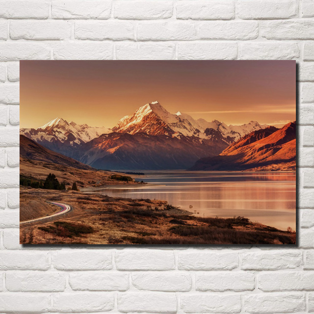Us 7 07 41 Off Nature Landscape New Zealand Island Southern Alps Mount Evening 037fj Living Room Home Wall Art Decor Wood Frame Fabric Posters In