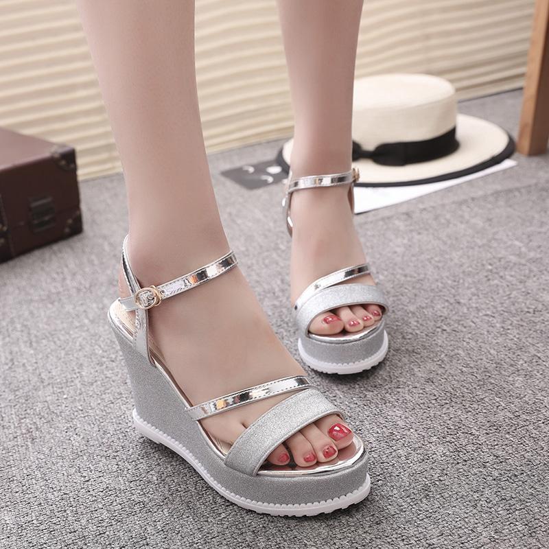 154fcaec46 SHIDIWEIKE Women Sandals Fashion Comfortable Bohemian Wedges Women ...