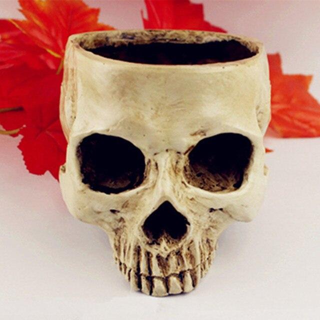 P-Flame Shining Fancy Home animal Big skull model multifunctional flower pot fruit plate storage tank Large human skull 1