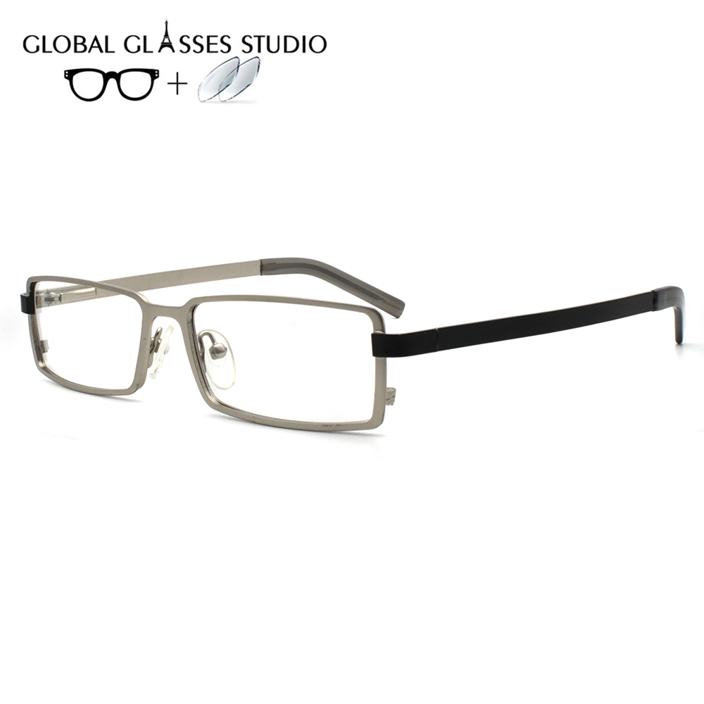 Men Metal  Glasses Frame Eyewear Eyeglasses Reading Myopia Prescription Lens 1.56 Index 270100(China)