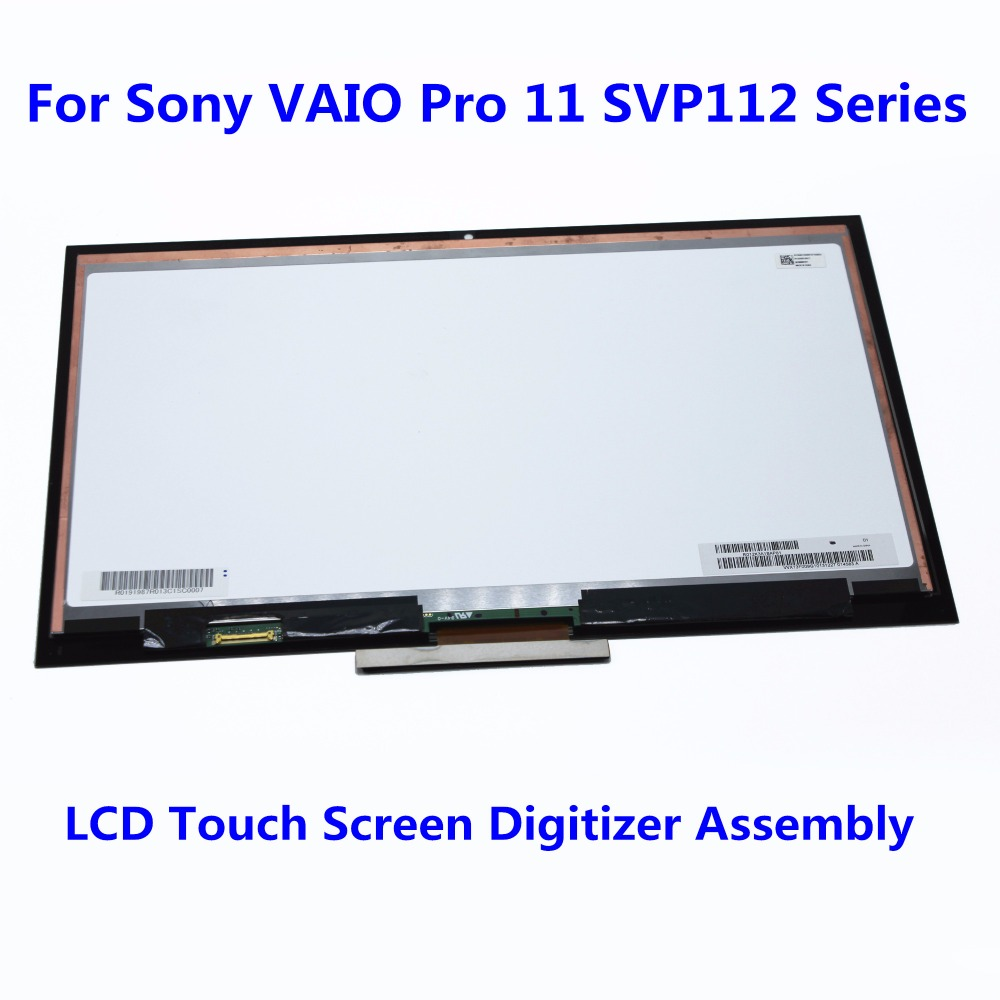 11.6 LCD Touch Screen Digitizer Display Assembly for Sony VAIO Pro 11 SVP112 Series SVP11227SCS SVP11216PX SVP112A17T 1920*1080 free dhl brand new black lcd display touch screen digitizer assembly for sony xperia z1s l39t c6916