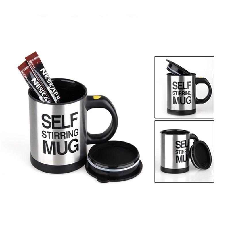 HTB11esKX2vsK1RjSspdq6AZepXaR 400ml Mugs Automatic Electric Lazy Self Stirring Mug Cup Coffee Milk Mixing Mug Smart Stainless Steel Juice Mix Cup Drinkware
