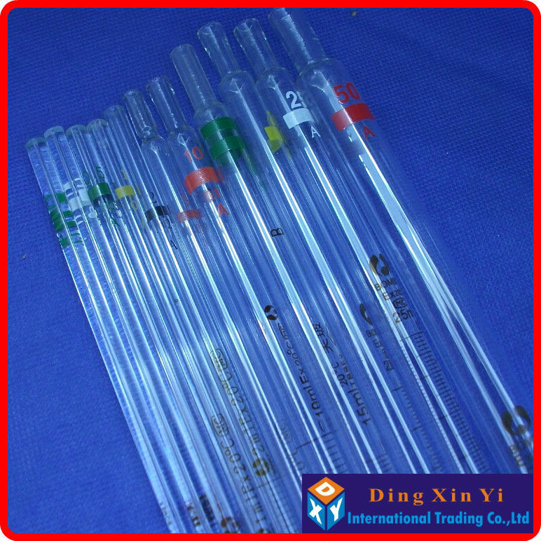 (5 Pieces/lot)5ml Glass Measuring Pipette With Coding Gand,graduated Pipette,5ml Glass Burette,resolution 0.05ml