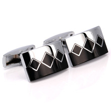 MeMolissa Fancy Cufflinks for men's Design cuff links Silver Dynamic Square gemelos cufflinks Gifts,Free S