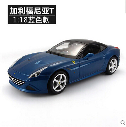 Калифорния T 1:18 Bburago Оригинальный моделирования сплава автомобиля модель с открытым верхом Гонки & Play Путешествия суперкар Форсаж Нужно для Скорости