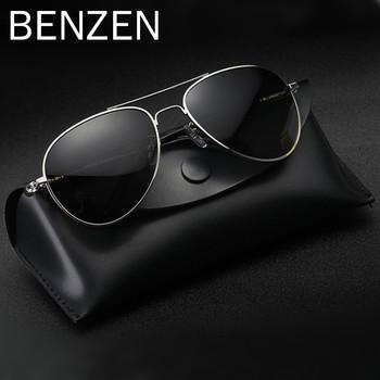 3dd558cc28 BENZEN Classic Pilot Sunglasses Men Brand Designer UV 400 Polarized Driving  Glasses Vintage Sun Glasses With Box 9052