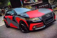 Elite Red PIXEL Camo Vinyl Wrap Car RACING Film Bubble Free For JEEP SUV TRUCK
