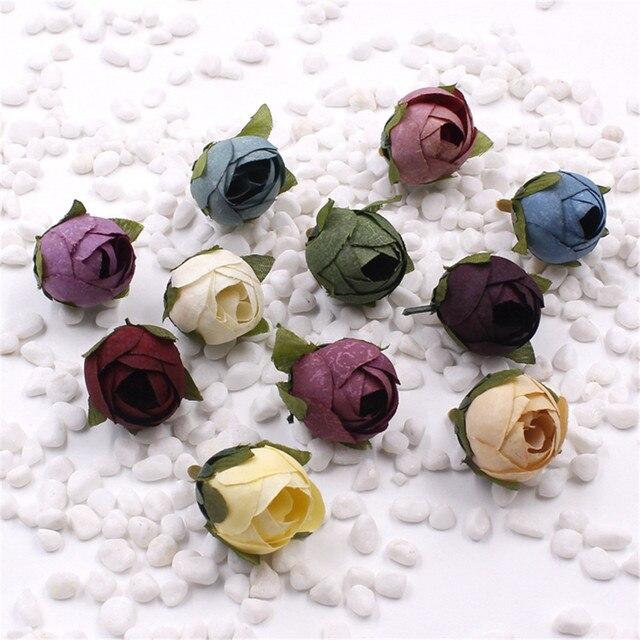 10 Pcs Soie Rose Bud Fleur Artificielle Pour Le Mariage Parti