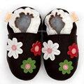 Baby Girl Primeros Caminante Flor Recién Nacido Del Bebé Zapatos de Bebé Mocasines de Cuero Niño Zapatillas Niños Zapatos Suaves Del Niño Del Bebé